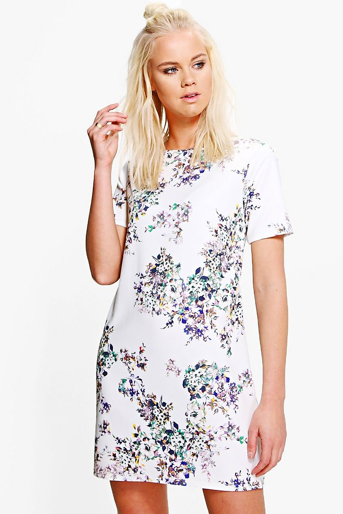 Agatha Cap Sleeve Shift Dress