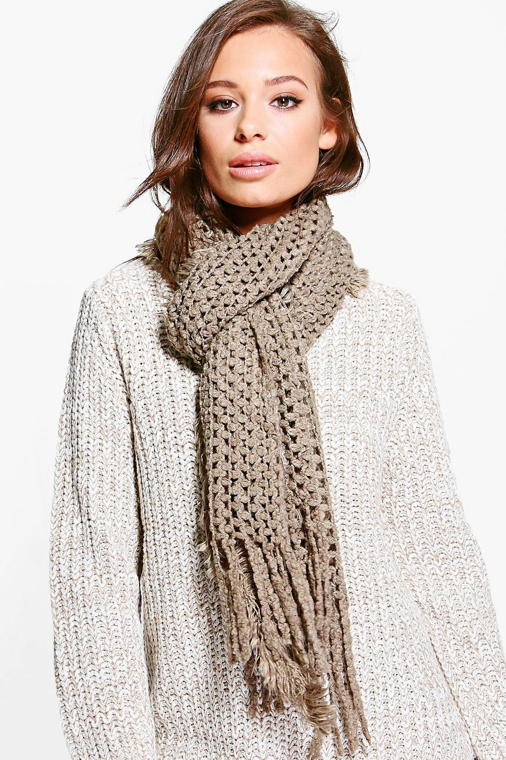 Lily Textured Tassel Edge Scarf