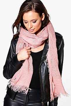 Emily Raw Edge Lightweight Scarf