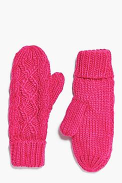 Ava Cable Knit Mittens