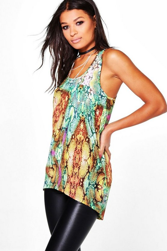 Suzie All Over Snake Print Vest