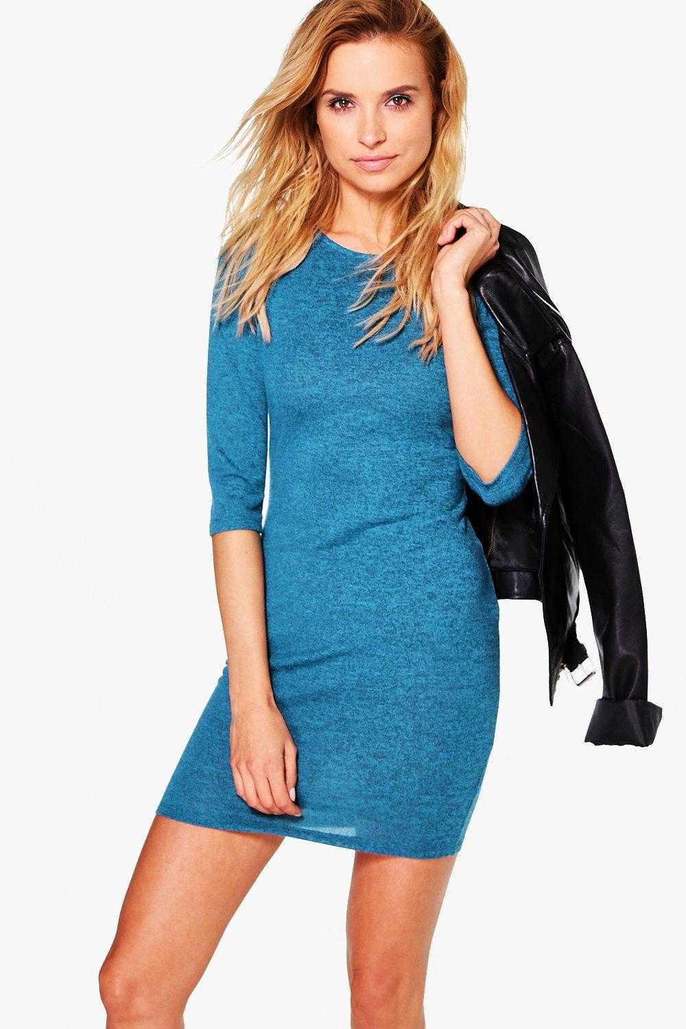 Leonie Brushed Knit Bodycon Dress