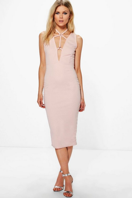 Petite Freya Sleeveless Harness Detail Midi Dress