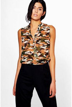 Hollie Camo Blouse