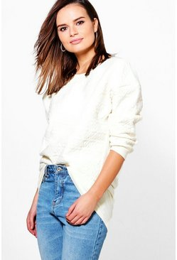 Daisy Quilted Sweat Top
