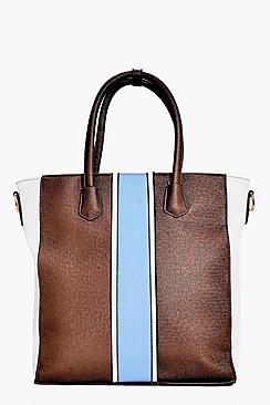 Libby Colour Block Stripe Day Bag