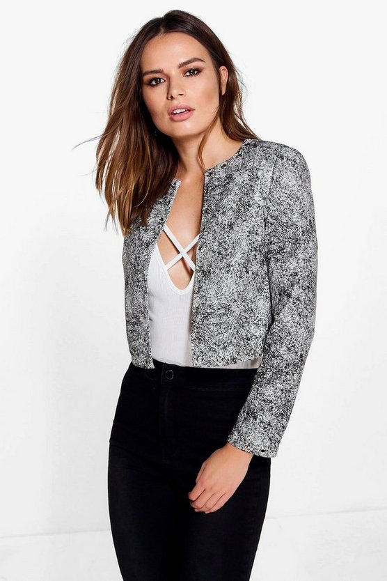 Daisy Boxy Jacket With Eyelets