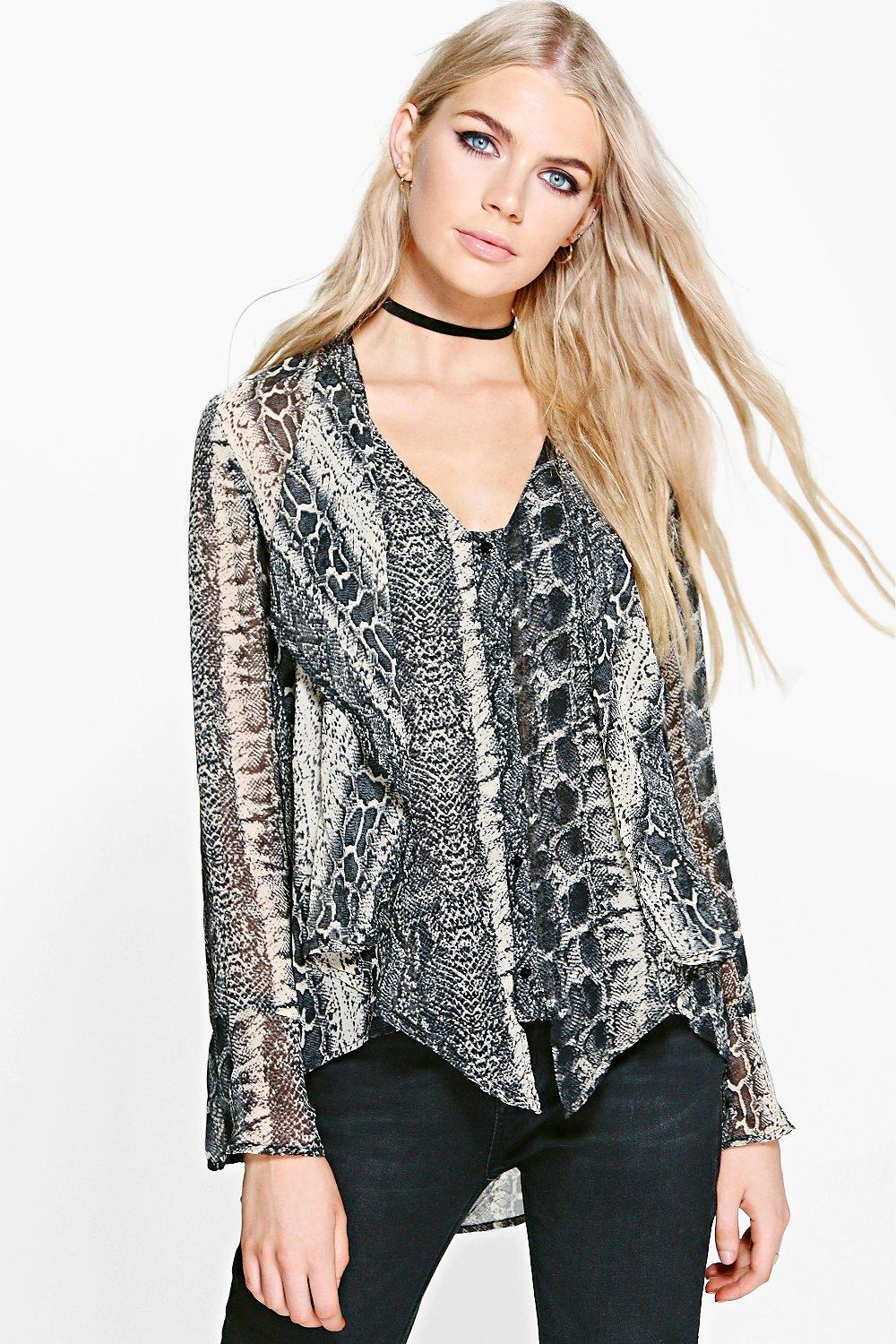 Florence Snakeskin Print Top