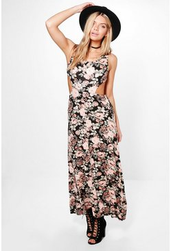 Katy Floral Sleeveless Maxi Dress