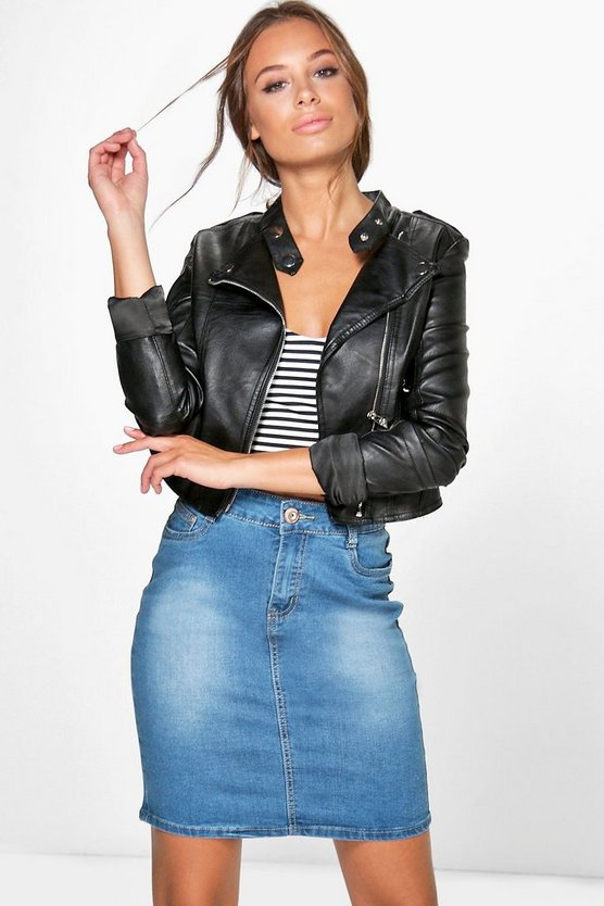 Rosie Denim Pencil Skirt