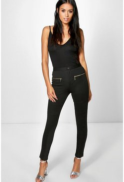 Lacey Button Front Zip Jegging