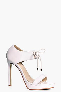 Lauren Lace Up Cuff Platform Heels