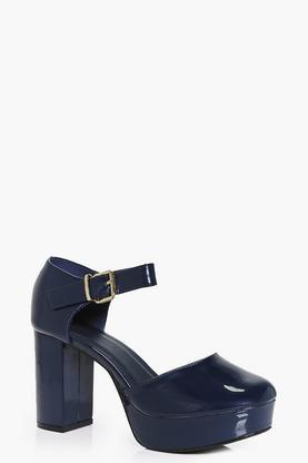 Grace Close Toe Platform Heels