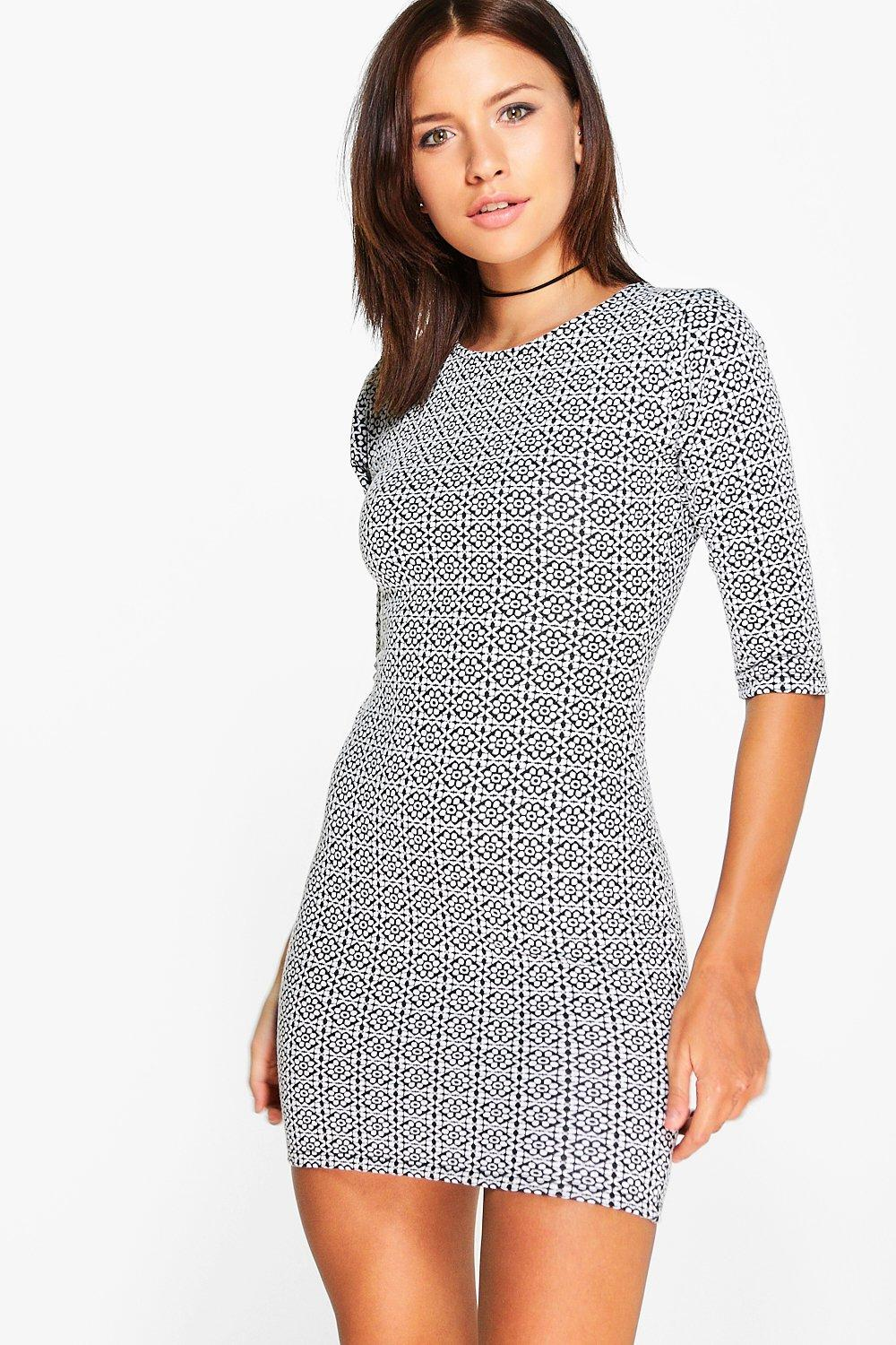Malika 3/4 Sleeved Bodycon Dress