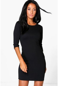 Alessia 3/4 Sleeved Bodycon Dress