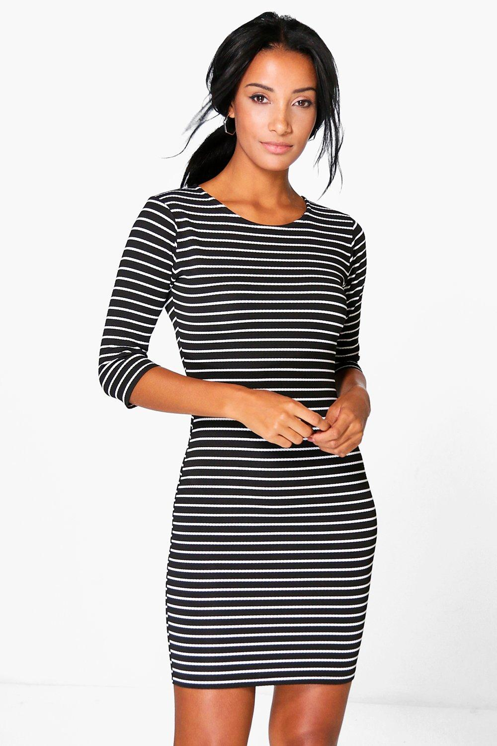 Tabbie 3/4 Sleeved Bodycon Dress