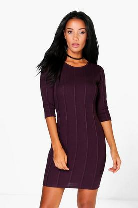 Sahara 3/4 Sleeved Bodycon Dress