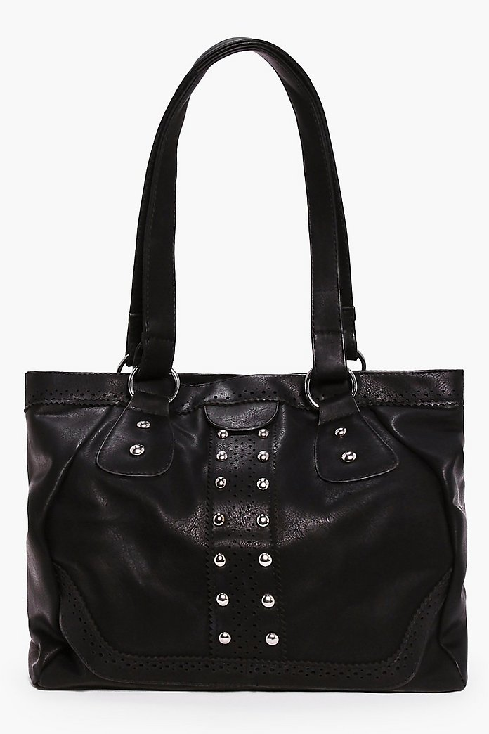 Louise Stud Detail Shopper Bag