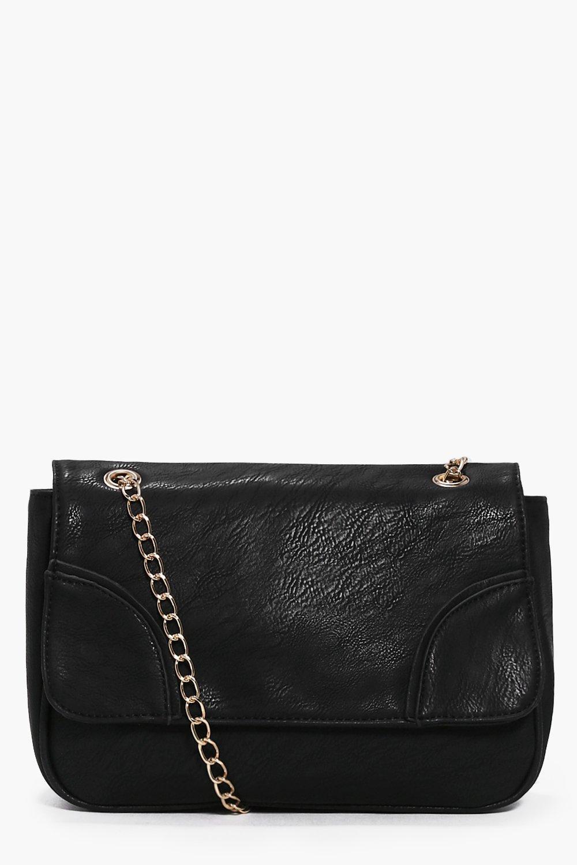 Chain Strap Cross Body Bag black