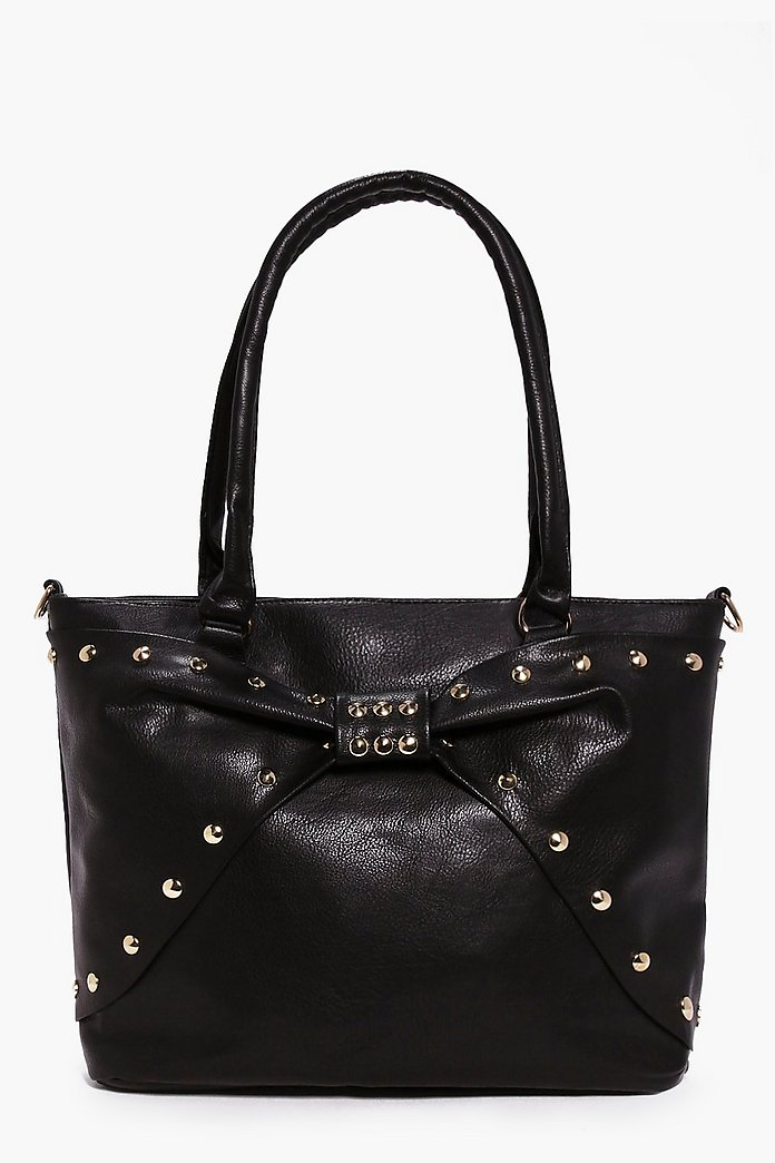 Kitty Bow Stud Shopper Bag