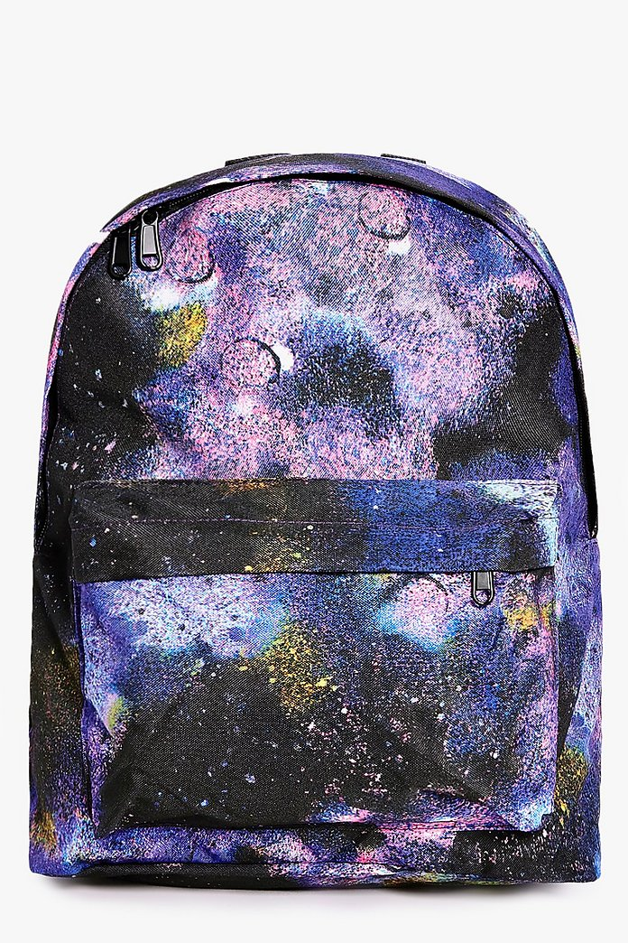 Nadia Galaxy Print Backpack