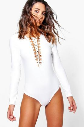 Isobel Lace Up Bodysuit