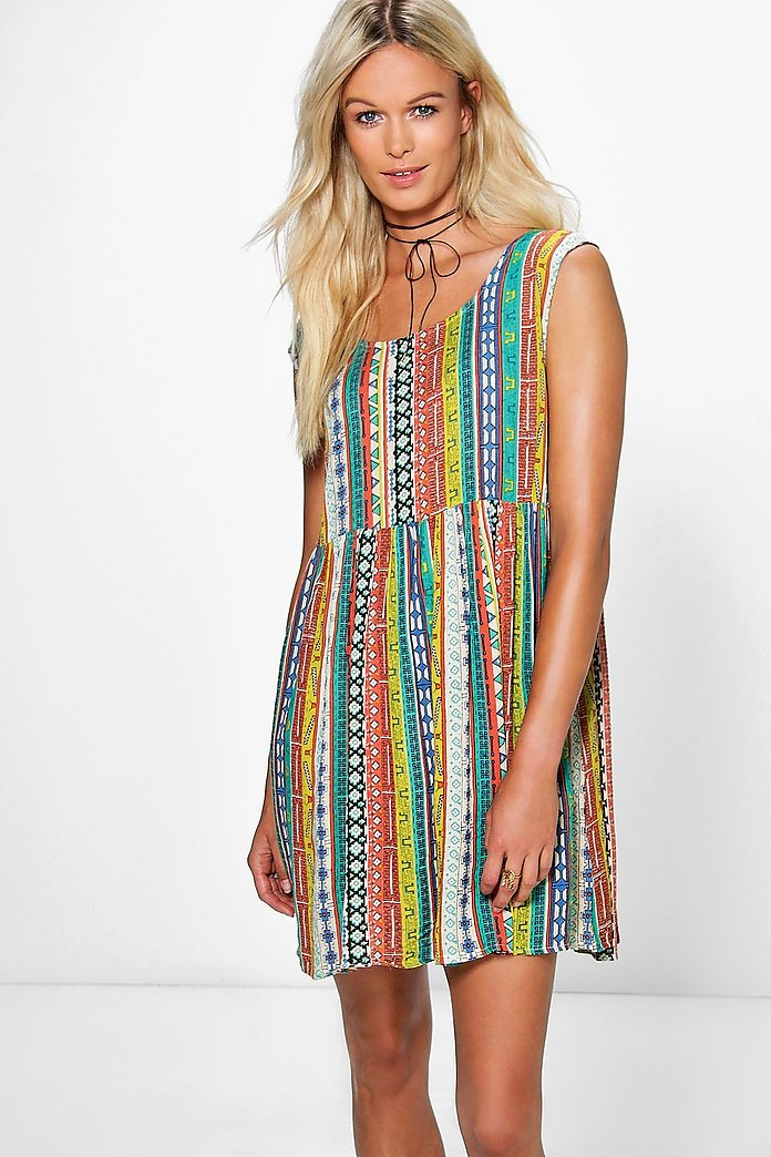 Maisie Printed Smock Dress
