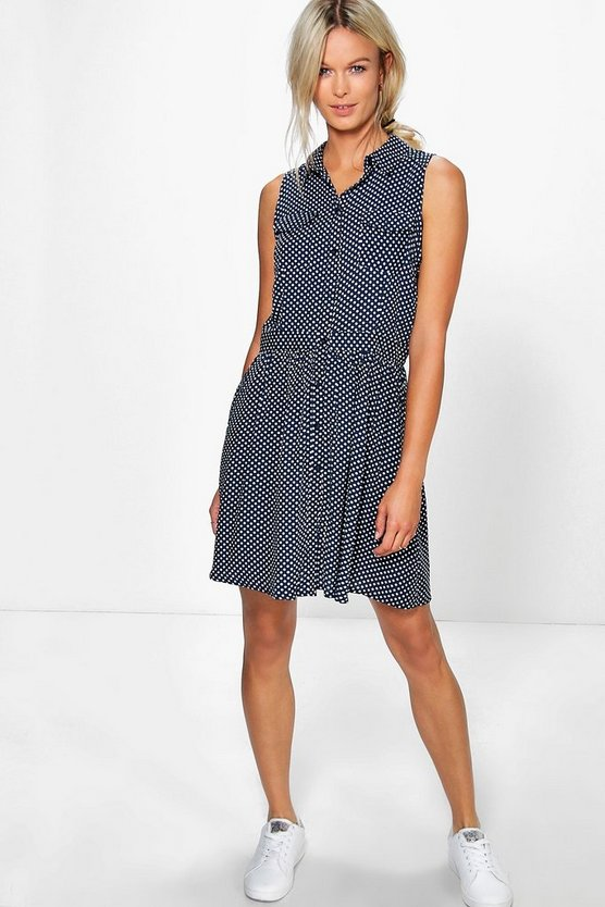 Isabelle Sleeveless Shirt Dress