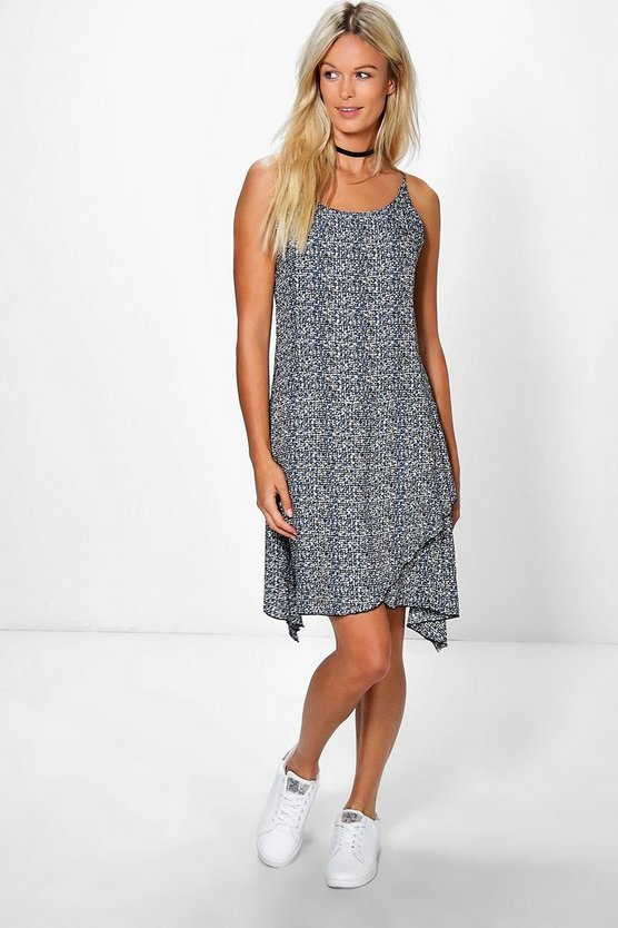 Isla Printed Hanky Hem Dress