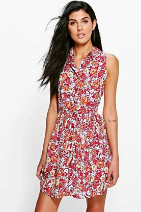 Mia Sleeveless Shirt Dress