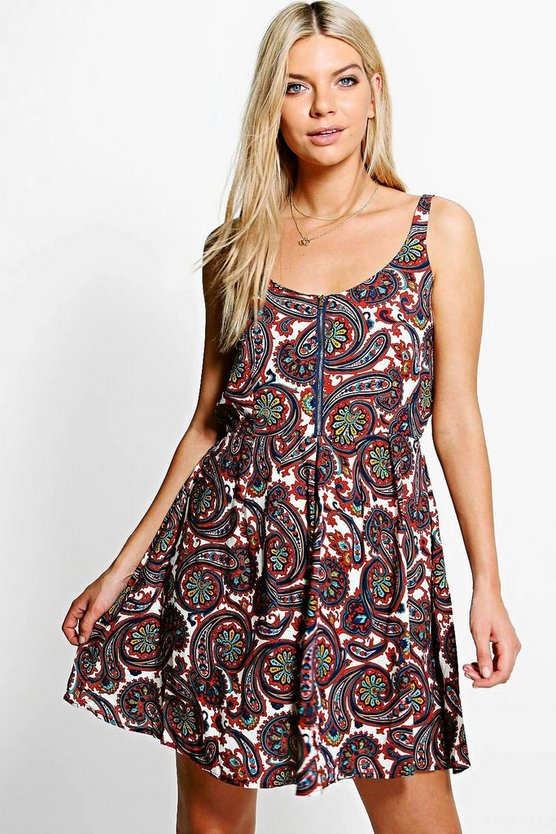 Evie Printed Dress