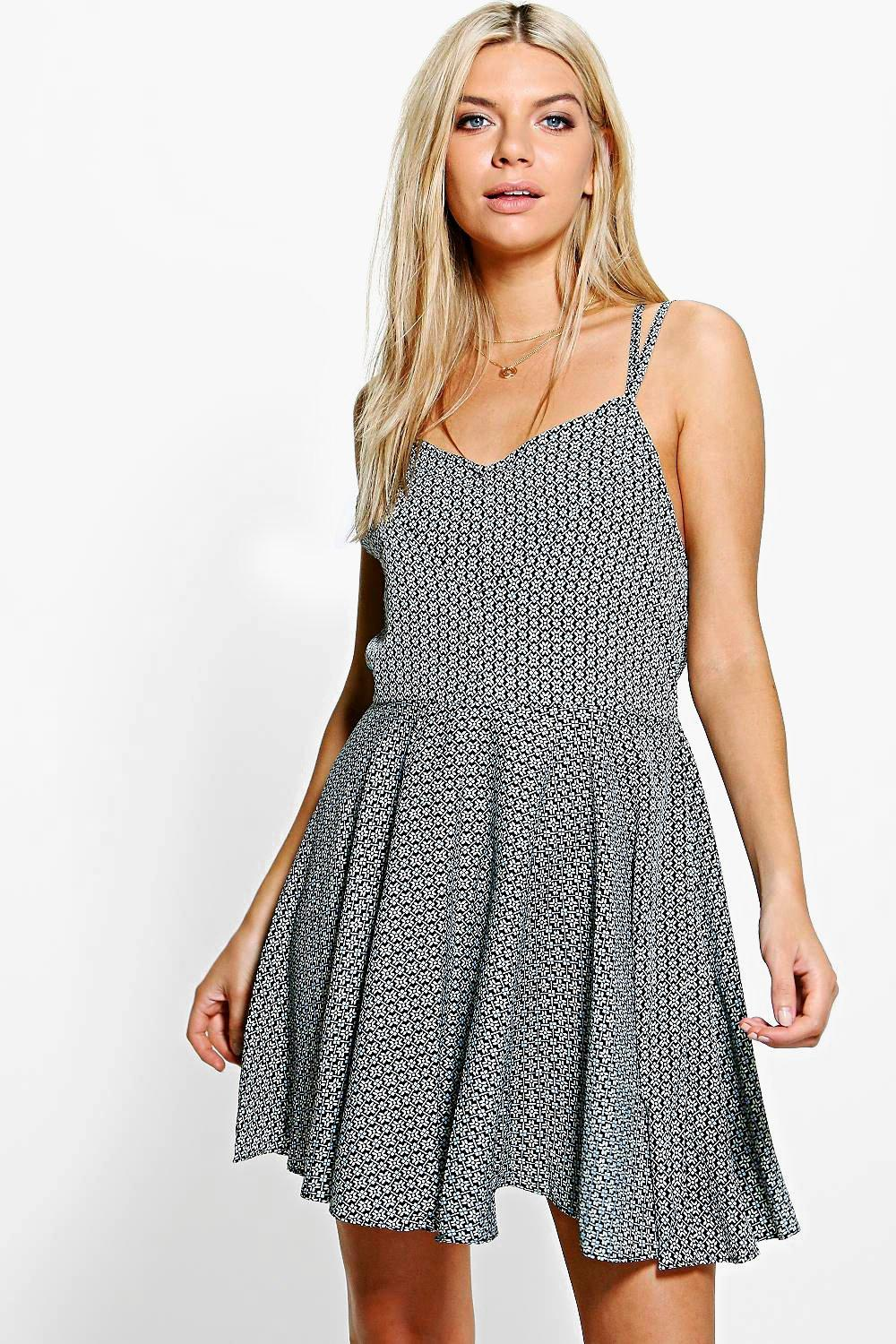 Grace Printed Skater Dress