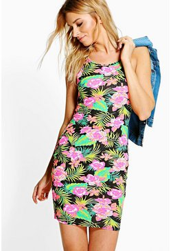 Esther Printed Strappy Bodycon Dress