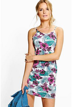 Savannah Printed Strappy Bodycon Dress