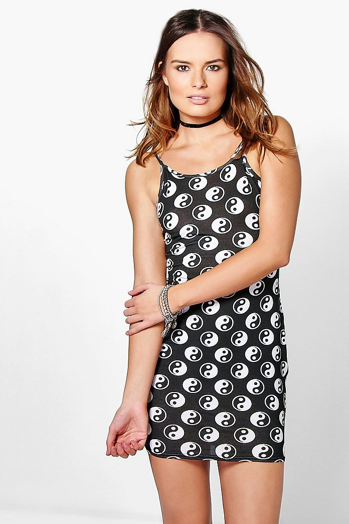 Lauren Printed Strappy Bodycon Dress