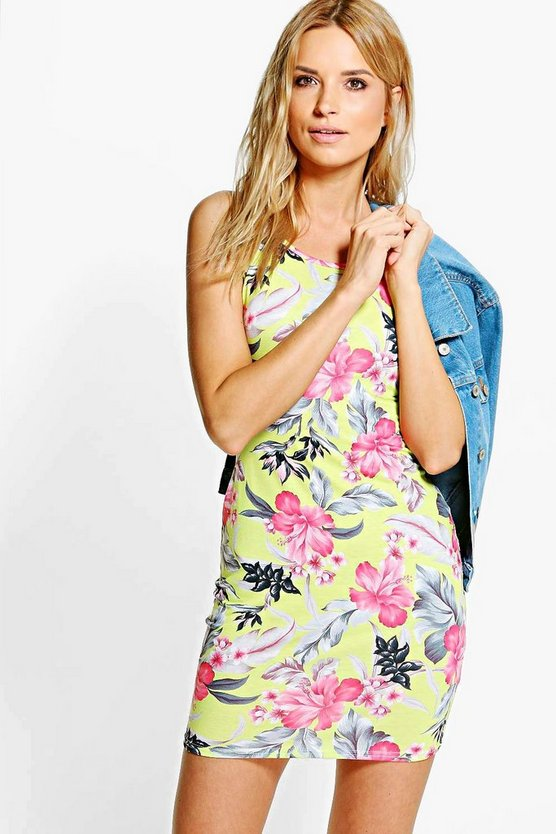 Darcey Printed Strappy Bodycon Dress