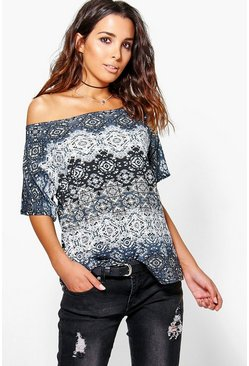 Laila Slash Neck T-Shirt