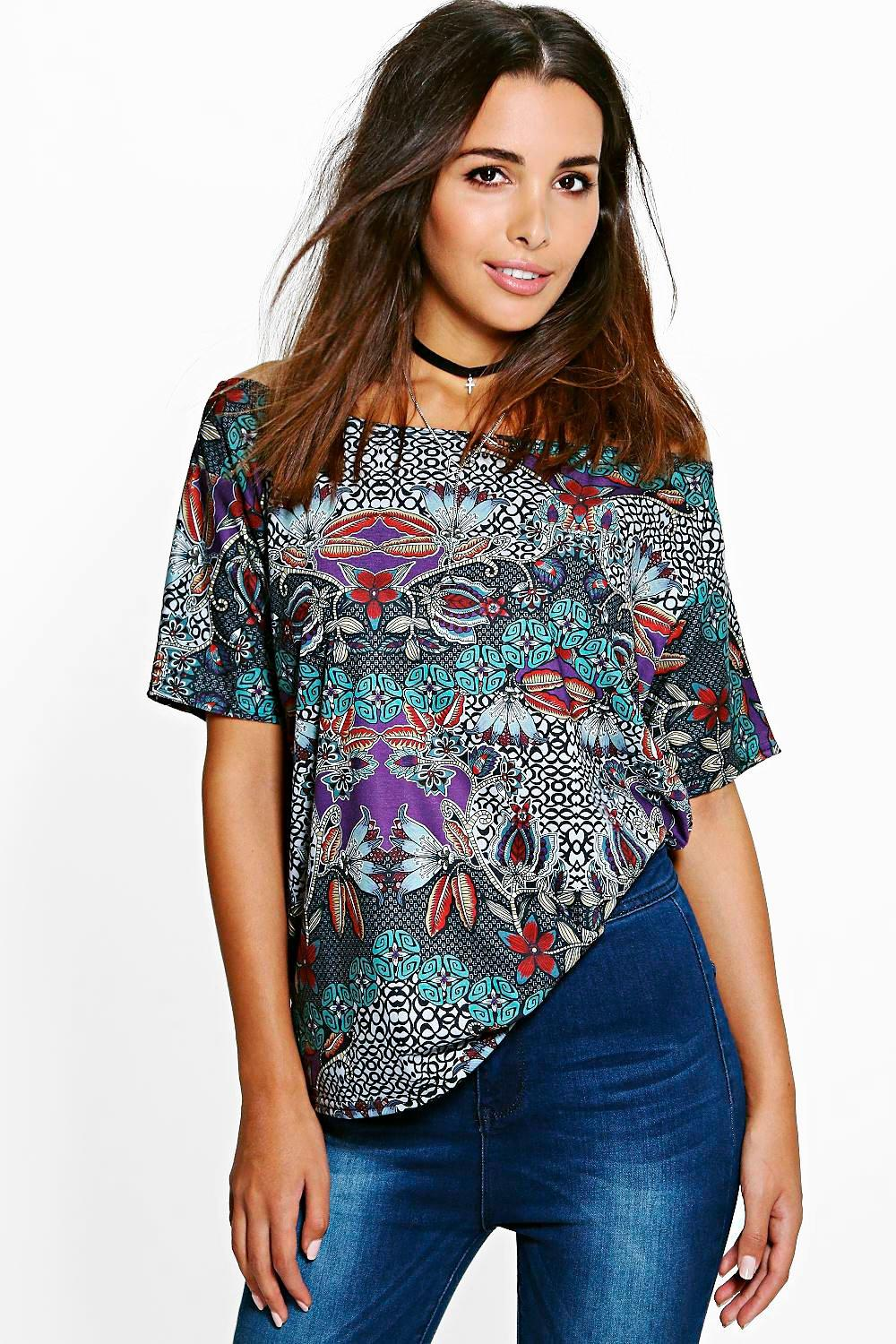 Lydia Slash Neck T-Shirt