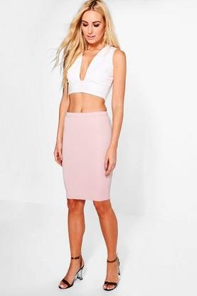 Emma Ribbed Bodycon Midi Skirt