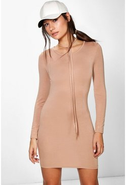 Summer Bodycon Dress With Self-Tie Choker