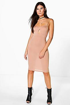 Jasmine Strappy Bralet Midi Dress