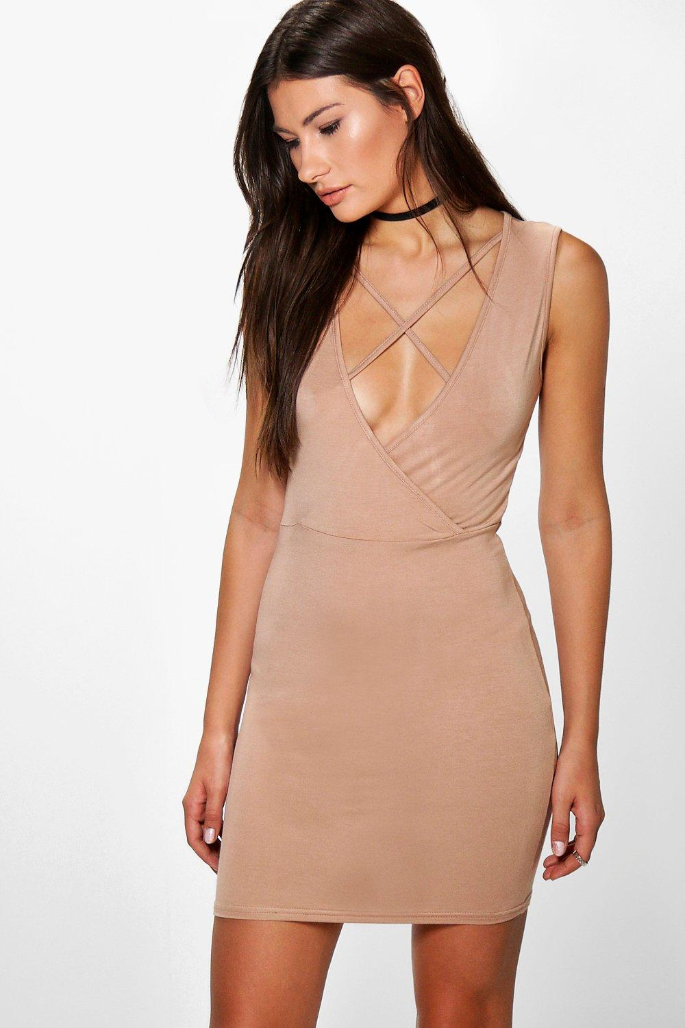 Elizabeth Strappy Wrap Front Mini Dress