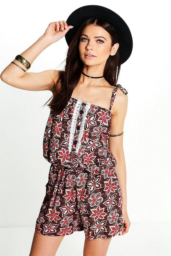 Florence Floral Playsuit