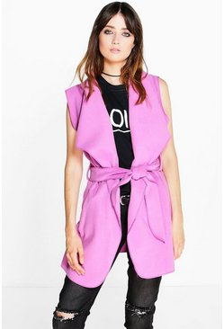 Isabel Shawl Collar Sleeveless Jacket