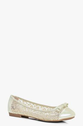 Alice Lace Effect Ballet Shoes