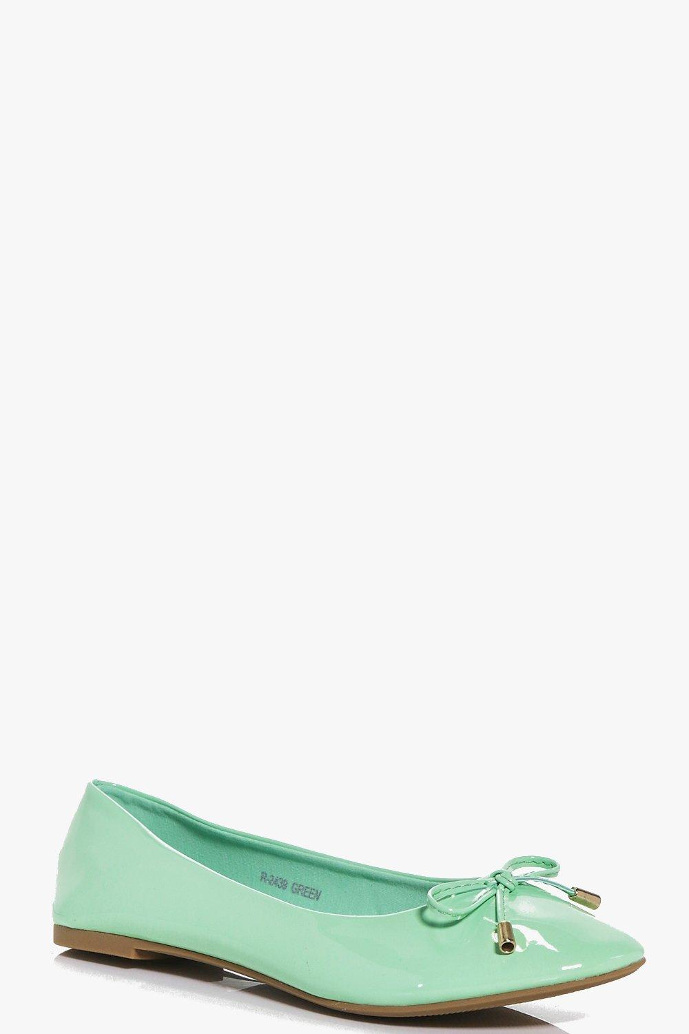 Megan Bow Trim Ballet Shoes