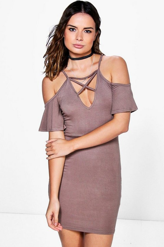 Bethany Strappy Ruffle Mini Dress