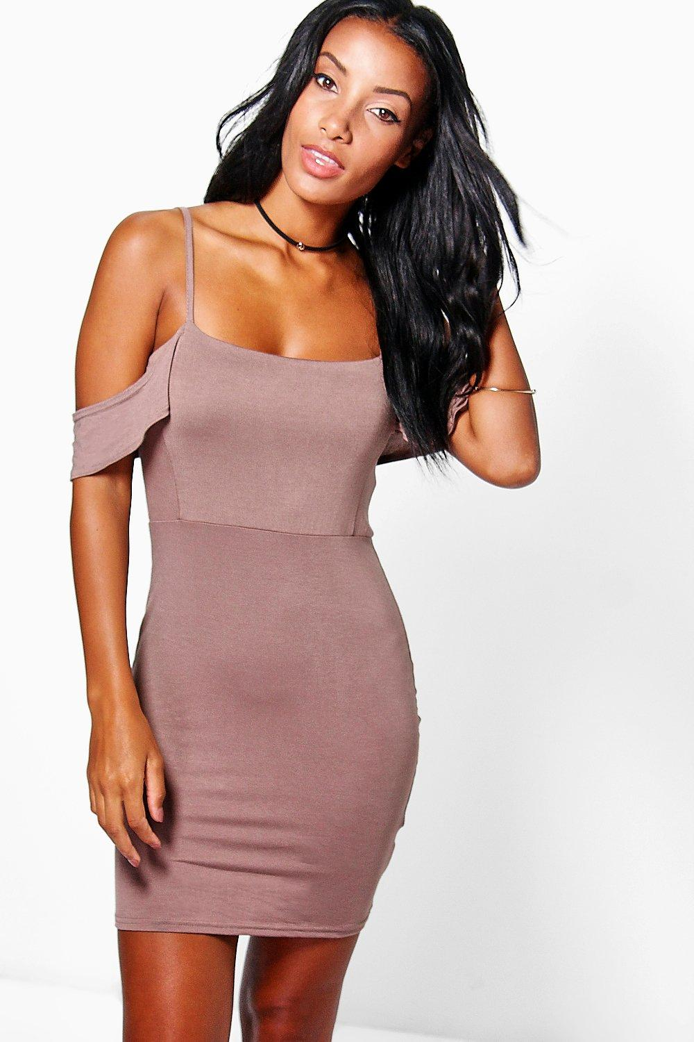 Eliza Strappy Cold Shoulder Mini Dress