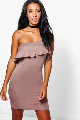 Katie One Shoulder Ruffle Dress