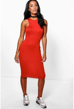 Rosie Racer Cut Out Midi Dress